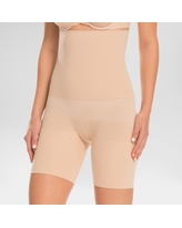 Assets by Spanx Women's Remarkable Results High Waist Mid-thigh Shaper - Light Beige M