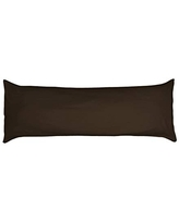 Betty Dain Stretch Jersey Body Pillowcase, 100% Knit Cotton, Soft Covering for Body Pillow, Dual Zippers for Easy Off/On, Machine Washable, Fits Most Body Pillow Styles, 21 x 54 inches, Brown