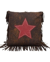 Loon Peak Cooley Faux Leather Throw Pillow LNPK5767 Color: Red