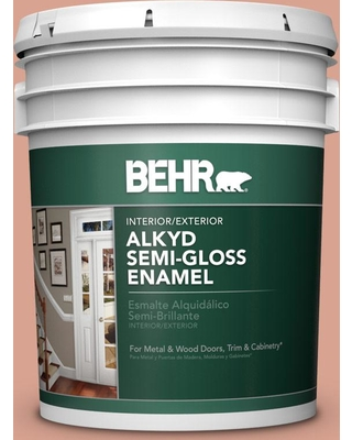 BEHR 5 gal. Home Decorators Collection #HDC-CT-13 Apricotta Urethane Alkyd Semi-Gloss Enamel Interior/Exterior Paint