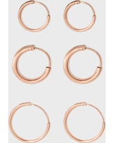 Endless Hoop Rose Gold Over Sterling Silver Small Three Earring Set - A New Day Rose Gold