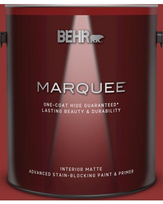 BEHR MARQUEE 1 gal. #BIC-49 Red Red Red Matte Interior Paint & Primer