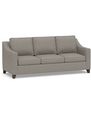 Cameron Slope Arm Upholstered Side Sleeper Sofa, Polyester Wrapped Cushions, Performance Chateau Basketweave Light Gray
