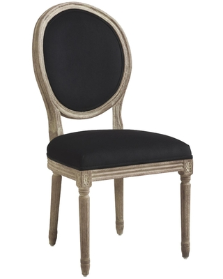 Round Back Paige Upholstered Dining Chair Set of 2: Gray - dove by World Market