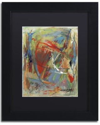 """Trademark Art 'Toy of a Cosmic Child' Framed Print on Canvas MA0806-B1 Matte Color: Black Size: 20"""" H x 16"""" W x 0.5"""" D"""