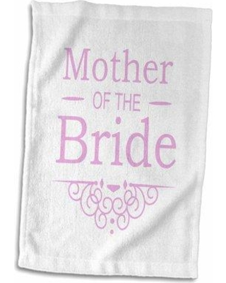 Shop Deals For Symple Stuff Ellington Circle Mother Of The Bride Hand Towel Terry In Silver Size 22 W X 15 D Wayfair 621fde12f6cd4f48a71f9eb08ae7f749