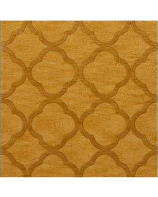 Everly Quinn Jessica Butterscotch Area Rug W001587176 Rug Size: Square 8'