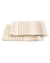 """LinenMe Linum Hand and Guest Towels, 13"""" x 20"""", Natural"""