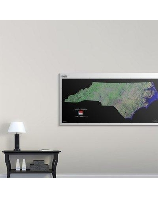 "Great Big Canvas 'North Carolina - USGS State Mosaic' Graphic Art Print 2405951_1 Size: 36"" H x 72"" W x 1.5"" D Format: Canvas"