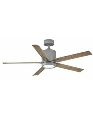 Hinkley Lighting Vail Outdoor Rated 52 Inch Ceiling Fan with Light Kit - 902152FGT-LWD
