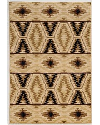 Deals For Millwood Pines Kailyn Lodge Vail Beige Black Area Rug Polypropylene In Ivory Cream Brown Size Rectangle 5 X 7 6 Wayfair
