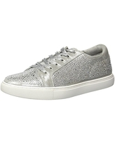 Kenneth Cole New York Women's Kam Shine Lace-up Embellished Sneaker, Silver, 9.5 M US