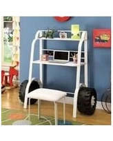 """Zoomie Kids Arianna 52"""" W Writing Desk with Stool aNJF2052 Color: White"""