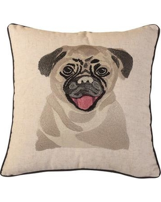 Calla Angel Bulldog Embroidered Throw Pillow CAPDMX15010