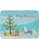 The Holiday Aisle Chinese Crested Merry Christmas Tree Memory Foam Bath Rug THLA4209