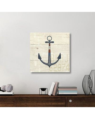 "East Urban Home 'Nautique III' Graphic Art Print on Canvas UBAH6537 Size: 30"" H x 30"" W x 1.5""D"