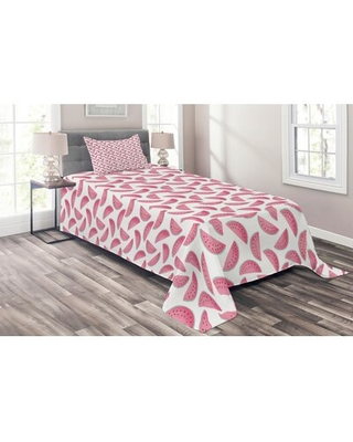 Melon Coverlet Set East Urban Home Size: Twin Bedspread + 1 Sham