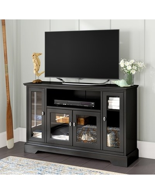 """Josie TV Stand for TVs up to 58"""" Beachcrest Home™ Color: Black"""