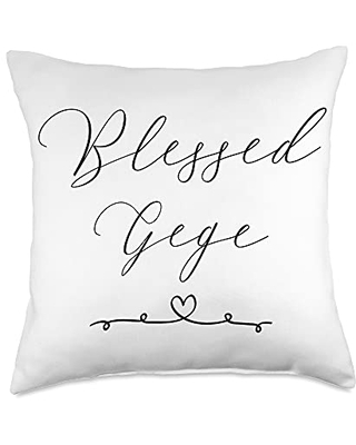 Gege Gifts Blessed Gege Throw Pillow, 18x18, Multicolor