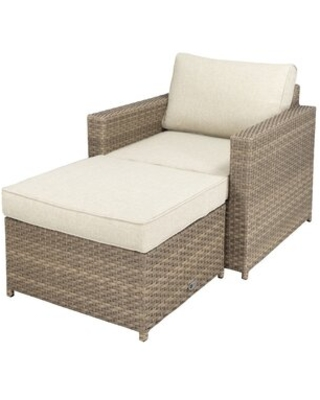 Novella 33'' Wide Outdoor Wicker Patio Sofa with Cushions