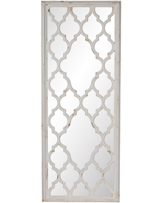 Distressed White 59-inch Full Length Floor Mirror