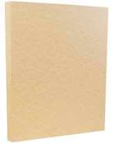 """Jam Paper 8.5"""" X 11"""" Parchment Cardstock, 50 Sheets in Brown 