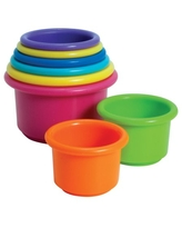 The First Years Stack & Count Cups, Toddler Stacking Cup Toys, 8 Pieces