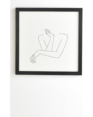 East Urban Home 'The Color Study Crossed Arms Illustration Anna' Framed Print X112508216