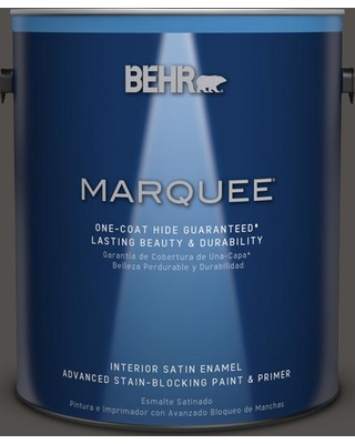 BEHR MARQUEE 1 gal. #PPU24-02 Berry Brown Satin Enamel Interior Paint and Primer in One