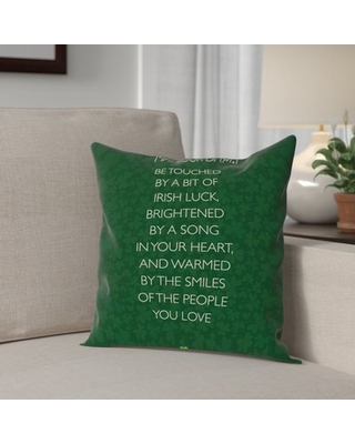 """Brett Wilson St. Patrick's Day Throw Pillow The Holiday Aisle Size: 20"""" H x 20"""" W x 2"""" D"""