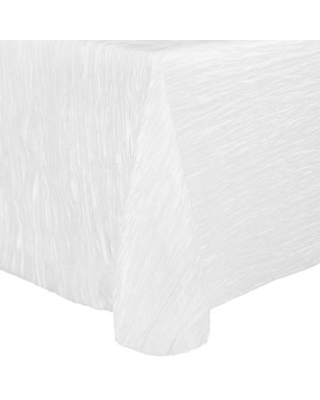 Ultimate Textile Delano 90-Inch x 132-Inch Oblong Tablecloth in White