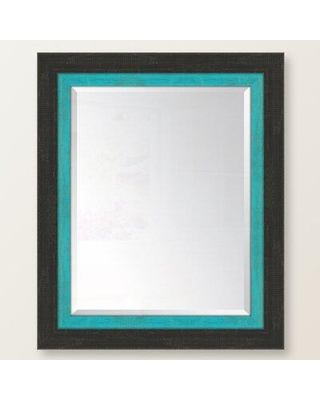 """Charlton Home® Mazie Wall Mirror NJS30 Size: 36"""" H x 30"""" W Finish: Turquoise"""