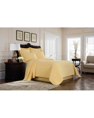 Royal Heritage Home Williamsburg Richmond Yellow Solid Full Bed Skirt