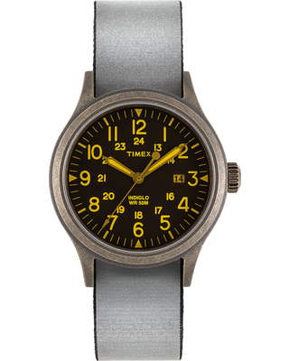 Timex Watch Men's Allied 40MM Reflective And Reversible Fabric Strap N/a Item # Tw2T41700Lg