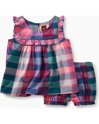 Tea Collection Plaid Baby Outfit