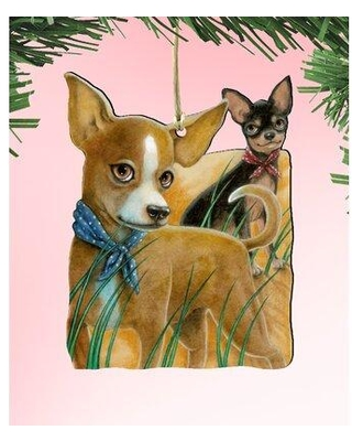 The Holiday Aisle The Couples Dogs Wooden Hanging Figurine W001700127