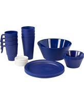 CreativeWare Acrylic 21pc Dinnerware Set Navy (Blue)