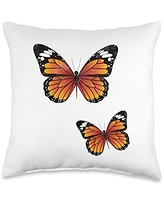 Butterfly Lover Cool Nature Butterflies Gifts Design Nature Monarch Butterflies Insect Lover Throw Pillow, 16x16, Multicolor