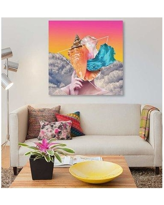 """East Urban Home 'Whispers' Graphic Art Print on Canvas EBHT2492 Size: 26"""" H x 26"""" W x 0.75"""" D"""