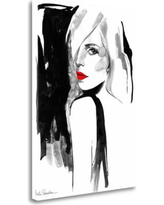 """Tangletown Fine Art 'Over the Shoulder' Print on Wrapped Canvas ICR719D-1824c Size: 24"""" H x 18"""" W"""
