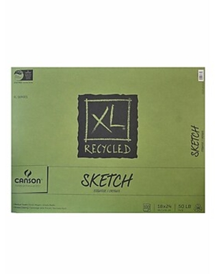 Canson XL Recycled Sketch Pads, 18 In. x 24 In., Pad Of 100 Sheets, Fold-Over (100510925)