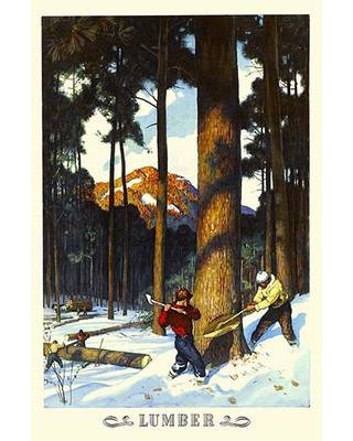 """Buyenlarge 'Lumber' Painting Print 0-587-33656-0 Size: 42"""" H x 28"""" W x 1.5"""" D"""