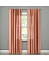 "Stitched Edge Curtain Panel Peach (Pink) (54""x108"") - Threshold"