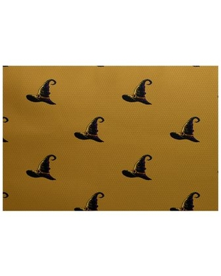 Witches Brew Holiday Print Gold Indoor/Outdoor Area Rug The Holiday Aisle Rug Size: Rectangle 2' x 3'