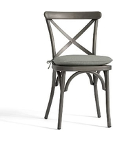 Bistro Chair and Barstool Cushion, Sunbrella(R) Oasis
