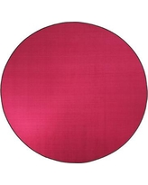 Flagship Carpets Americolors Cranberry Area Rug AS-CB Rug Size: Round 6'