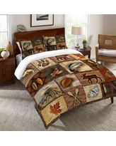 Millwood Pines Stallworth Lodge Duvet Cover BF027099 Size: King
