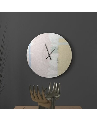 Sweet Savings On Kissable Deliberate Abstract Metal Wall Clock Ebern Designs Size Large