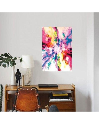 """East Urban Home 'Screaming Clouds' Graphic Art Print on Canvas ERBH2811 Size: 12"""" H x 8"""" W x 0.75"""" D"""