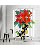 East Urban Home Edith Jackson Christmas Stocking Shower Curtain ETHH3624